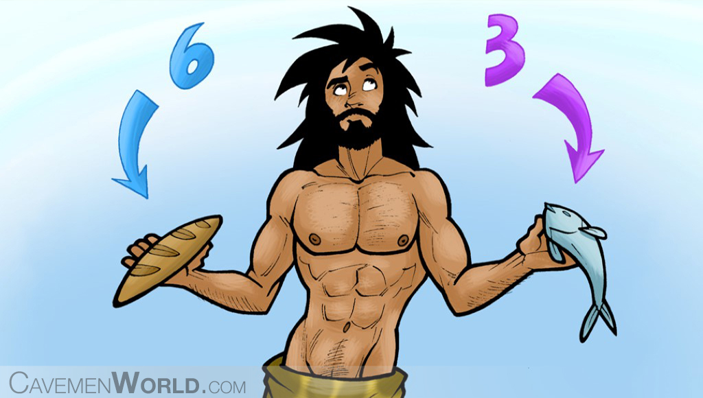 a caveman is learning with food is a better source of Omega 3