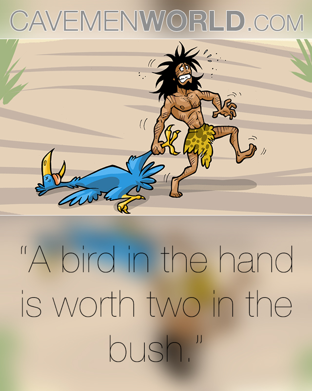 a bird in the hand is worth two in the bush A bird in the hand (is worth two in the bush) definition: said when you recognize that you should not risk losing something you already have by trying to get something you think might be better learn more.
