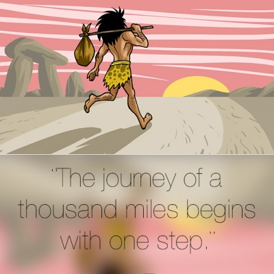 The journey of a thousand miles…
