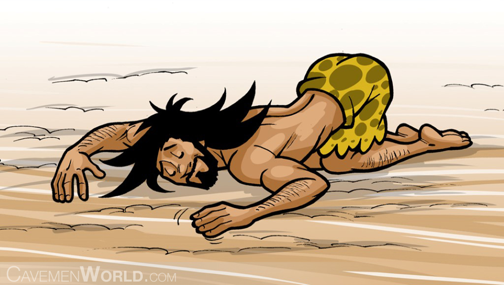 a caveman like to be in contact with dirt and the ground, because this maintains him healthier